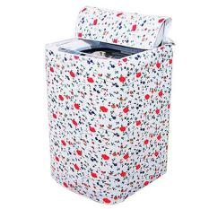 Ac Red Waterproof Washing Machine Cover Washer/dryer Cover The Random Pattern On The Top Cover Of Washing Machine Waterproof And Dustproof Cover (a) - Intl By Artisitconception.