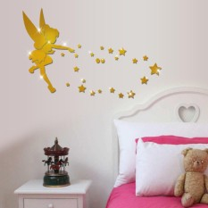 Acrylic Mirror Wall Stickers Angel Decorating Living Room Bedroom 3D Laser Crystal Mirror Sticker - intl