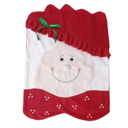 Adorable Mrs Santa Claus Christmas Kitchen Dining Table Chair Back Cover (Red)