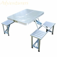 Adventurers Portable Picnic Table Set (silver) By Adventurers