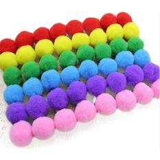 Ai Home 60pcs DIY Pompom Plush Balls 20mm Fur Balls Wedding Home Decoration Sewing Crafts (