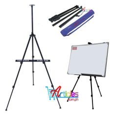 Aluminum Folding Easel Stand With Blue Carry Bag Whiteboard Telescopic Stand By Trinity Marketing - Home.