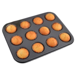 Amango Baking Mold 12 Cups Metal Nonstick