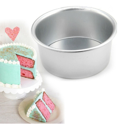 Amango Cake Baking Mould Pan Aluminum Alloy Removable Bottom 6''