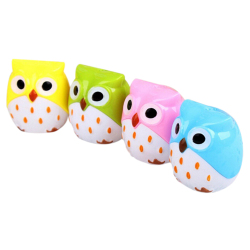 Amango Pencil Sharpener Mini Cute Owl Pattern