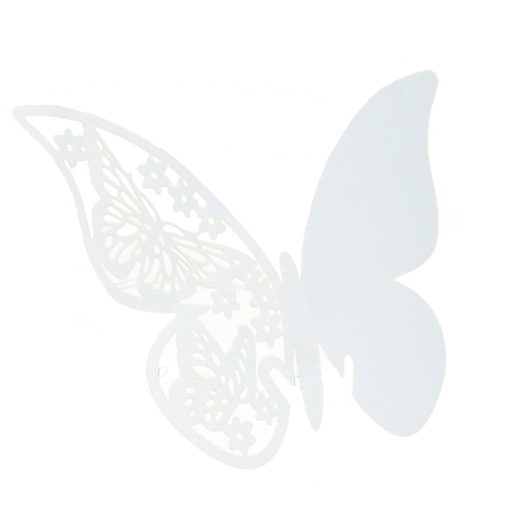 Amango Table Mark Wine Glass Butterfly Cards Set of 50 (White) - thumbnail