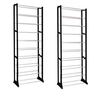 Keimav Amazing Shoe Rack Set of 2 (Black)