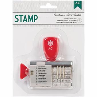 American Crafts Christmas Roller Date Stamp