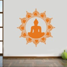 AYA 57*57cm Religion Home Stickers Decals Art Wall Decor Mural Vinyl Buddha  Orange.
