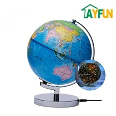 Buy sell cheapest interactive world illuminated best quality ayfun celestial interactive globe day view world globe and night view illuminated constellation map gumiabroncs Image collections