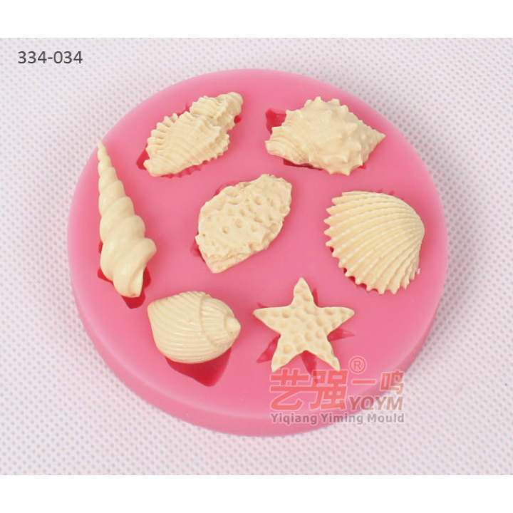 Baking conch starfish scallops silicone cake Bakeware Baking Tools Accessories