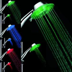 Bathroom Water Glow No Charger Colorful LED Shower Head Multicolor LED