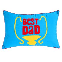 Best Dad Pillow (Blue)