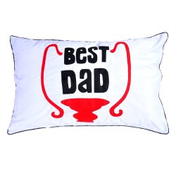 Best Dad Pillow (White)