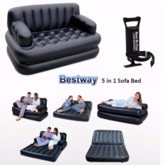 Bestway 5 In 1 Inflatable Sofa Air Bed Couch Free Double Quick Hand Pump Manual