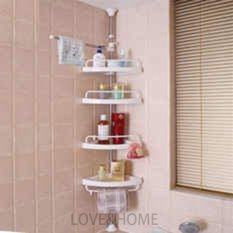 Better One Adjustable Bathroom Corner Pole Caddy Shower Organizer (white) By Better One.