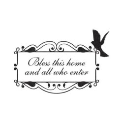 BlingDing Bless This Home Wall Decal Sticker (Black)