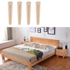 BolehDeals 4Pcs 18CM Universal Solid Wood Furniture Leg Sofa Leg Chair Leg Table Feet - intl