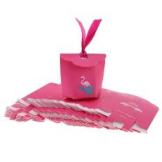 Bolehdeals 50pcs Tropical Flamingo Paper Candy Gift Boxes Party Favors 5 X 4.5 X 8.3cm - Intl By Bolehdeals.