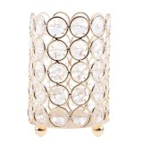 BolehDeals Crystal Tealight Candle Sleeve Holders for Wedding Candlelight Dinner Table Decorative Centerpieces Birthday/Christmas Gifts - intl image