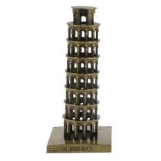 BolehDeals Leaning Tower of Pisa Model Home Decor Metal Craft Furnishing Article 15.5CM - intl