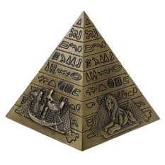 BolehDeals Metal Handicrafts Egyptian Pyramids Building Model Bookshelf Ornament Copper Bronze Gray - intl