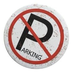 "BolehDeals Retro Style ""No Parking"" Spotted Round Tin Sign Iron Pub Bar Decor Plaque"