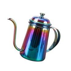 ... BolehDeals Stainless Hand Drip Coffee Pot Pour Over Gooseneck Tea Kettle 650ml Colorful intl