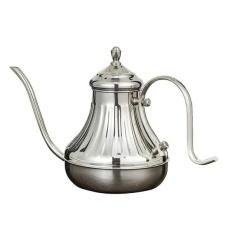 BolehDeals Stainless Steel Palace Hand Drip Coffee Pot Fine Mouth Tea Pot Silver - intl