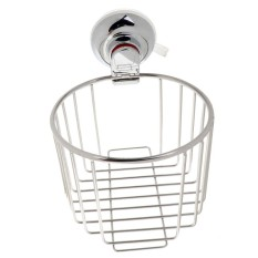 BolehDeals Stainless Wire Toilet Paper Holder Paper Roll Basket Storage Rack 138mm - intl