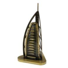 BolehDeals Vintage Home Decor Burj Al Arab Model Metal Crafts Furnishing Articles 15CM - intl