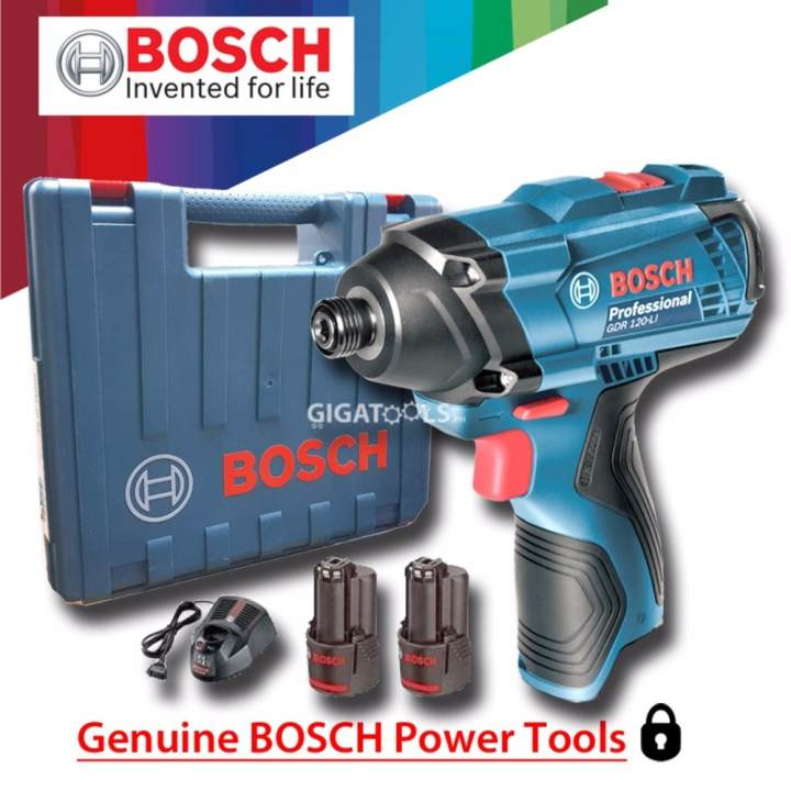 bosch gdr 120 li cordless impact driver 12v kit set lazada ph. Black Bedroom Furniture Sets. Home Design Ideas