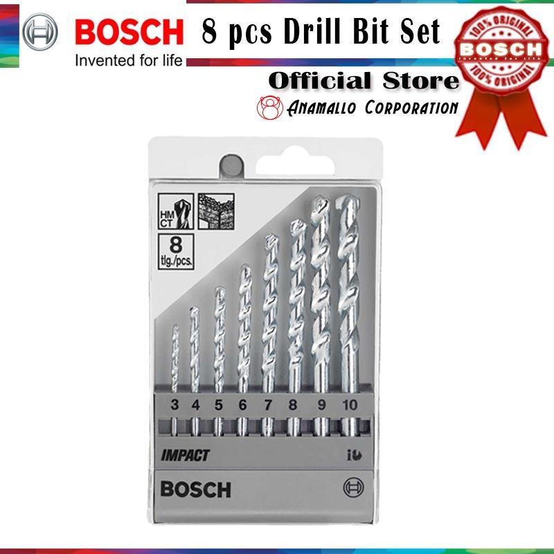 Bosch 8 pcs Impact Masonry Drill Bit Set - thumbnail