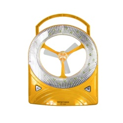 BP-5560 Rechargeable LED Light with Fan (Yellow)