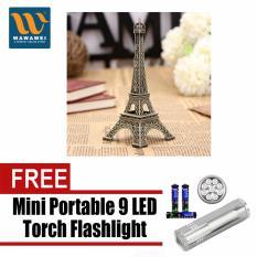 PHP 179. Bronze Tone Paris Eiffel Tower Figurine Miniature Statue Vintage Model Decor ...