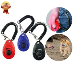 Button Dog Training Clicker with Wrist Strap, Dog Clicker Training with coil for Puppy,