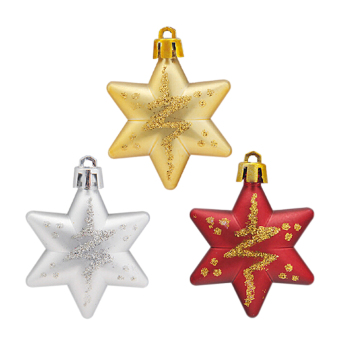 Buytra Christmas Stars Decorations Tree 5 x 5cm 5 Pieces Red