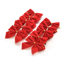 Buytra Christmas Tree Bow Baubles Home Decor 10pcs