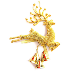 Buytra Christmas Tree Ornament Deer Chital Hanging Gold