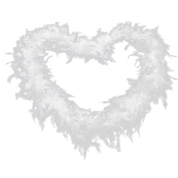Buytra Elegant Feather Fluffy Scarf  White