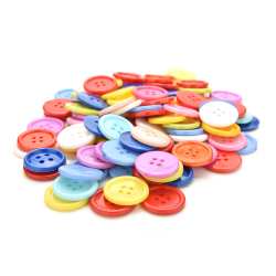 Buytra Plastic Round Buttons Sewing DIY 100pcs 18mm