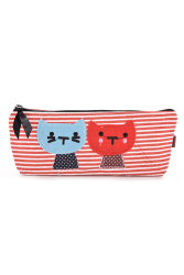 Buytra Pouch Cute Cat Pattern Pencil Case Red