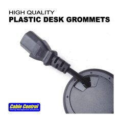 Cable control philippines cable control price list cable sleeves cable control plastic desk grommets 53mm set of 8 office desk grommet computer greentooth Images