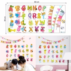 Cartoon Animals Alphabet Wall Decal Stickers For Baby Nursery Kids Room  Decor Multicolor 30*60cm