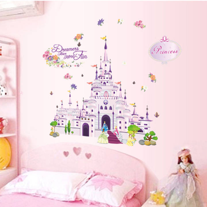 Castle large children's room bedroom glass stickers