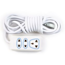 CCY CS-258  Safe Extension Cord (White)