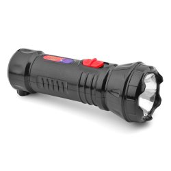 CCY CS804A 600 mAh Rechargeable LED Flashlight (Black)