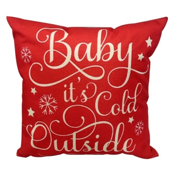 Christmas Both Side Pillow Sofa Waist Throw Cushion Cover Home Decor A - intl - picture 2