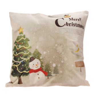 Christmas Cushion Cover Xmas Ambience Square Pillow Case Sofa Home 11 (Intl)
