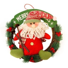 Christmas Decor Xmas Door Wreath Garland Party Hanging Intl